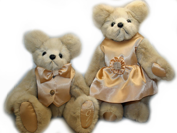 fur coat teddy bears with custom clothing