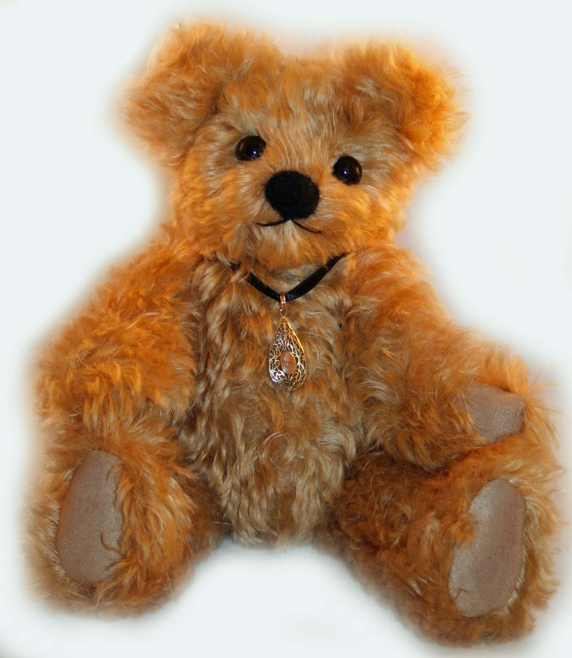 "Gabby, 12"" Golden Dense Mohair Teddy Bear"